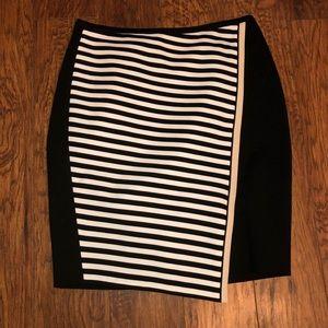 🖤White House Black Market Stripped Tulip Skirt